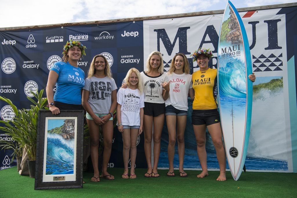 Carissa Moore and Tyler Wright inspiring the next generation of local Maui surfer girls.