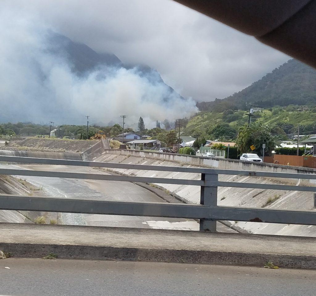 Mokuhau fire in Happy Valley. PC: