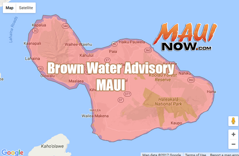 Brown Water Advisory for Maui Island