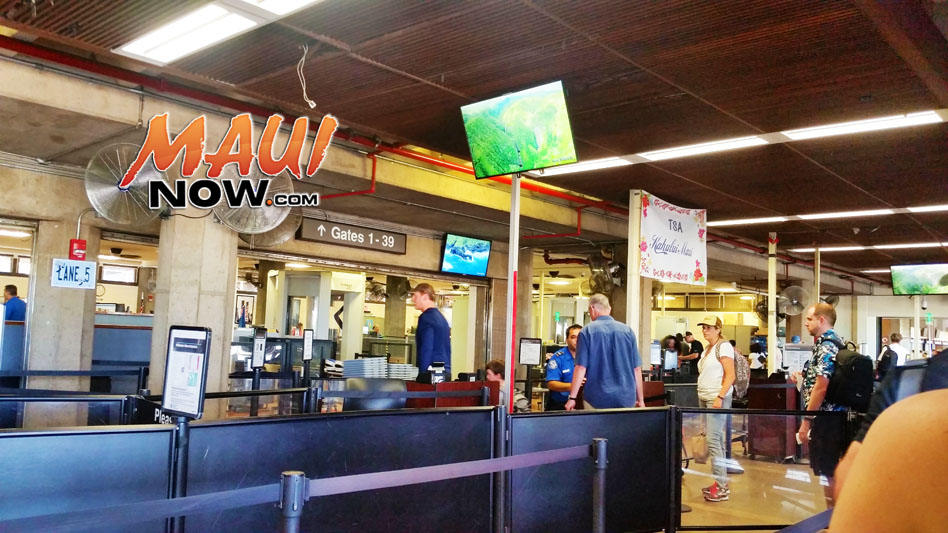 UPDATE: TSA Travel Advisory for Kahului Airport