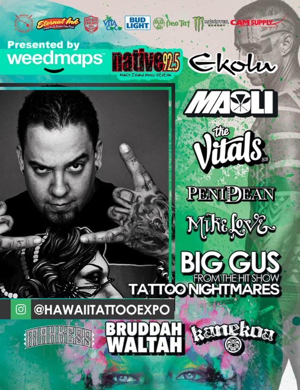 Maui now inaugural hawai i tattoo expo on maui april 7 9 for Spikes tattoo maui