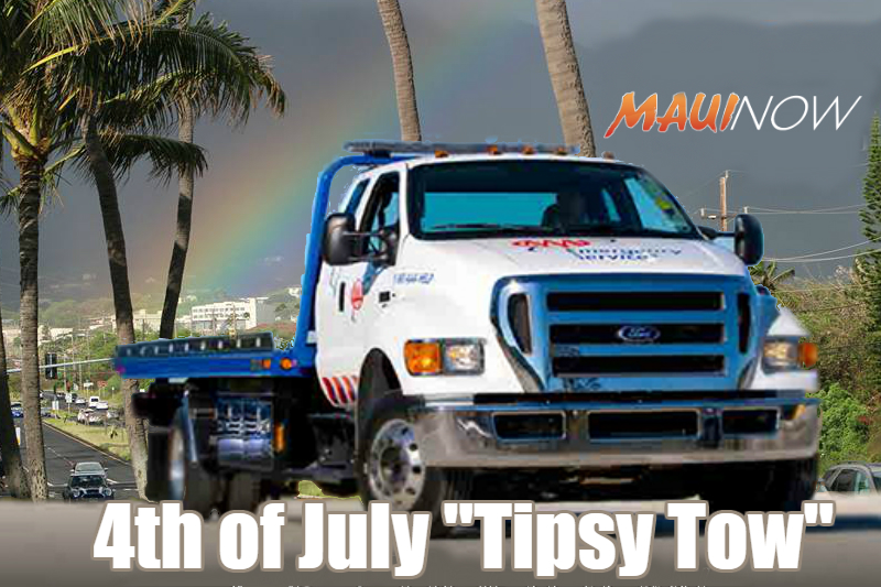AAA Hawai'i Offers Tipsy Tow Service For July 4th