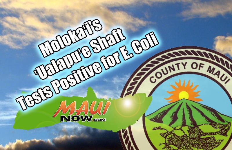 Shaft at 'Ualapu'e, Moloka'i Tests Positive for E. Coli