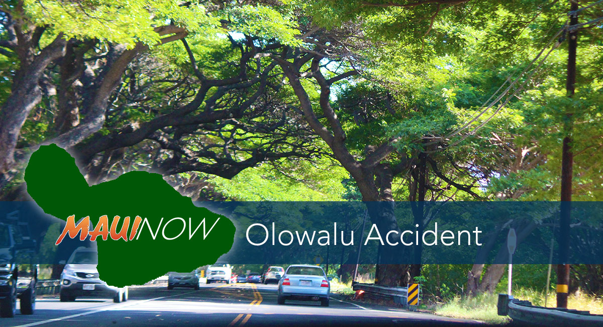 Traffic Advisory: Olowalu Traffic Accident