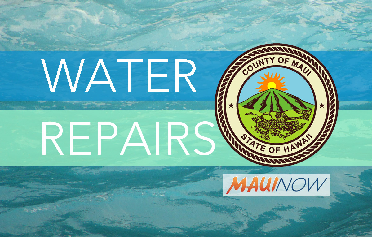 Water Valve Replacement Project in Kahului, Dec. 7-23