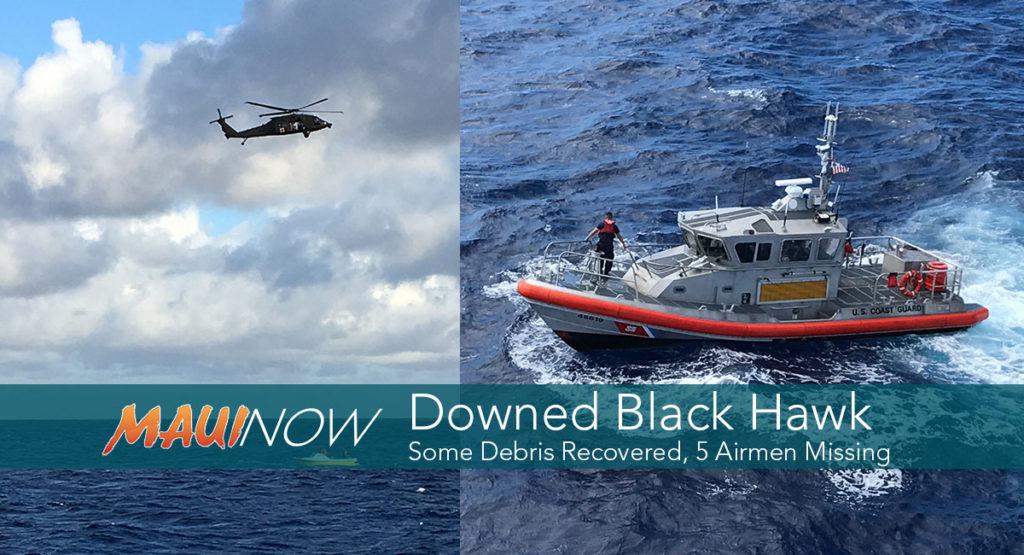 Army Black Hawk chopper carrying 5 missing off Hawaii coast