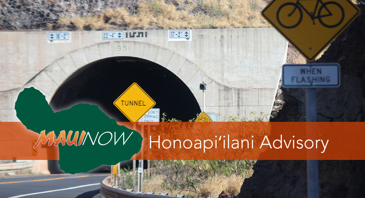 Traffic Advisory: Honoapi'ilani Highway