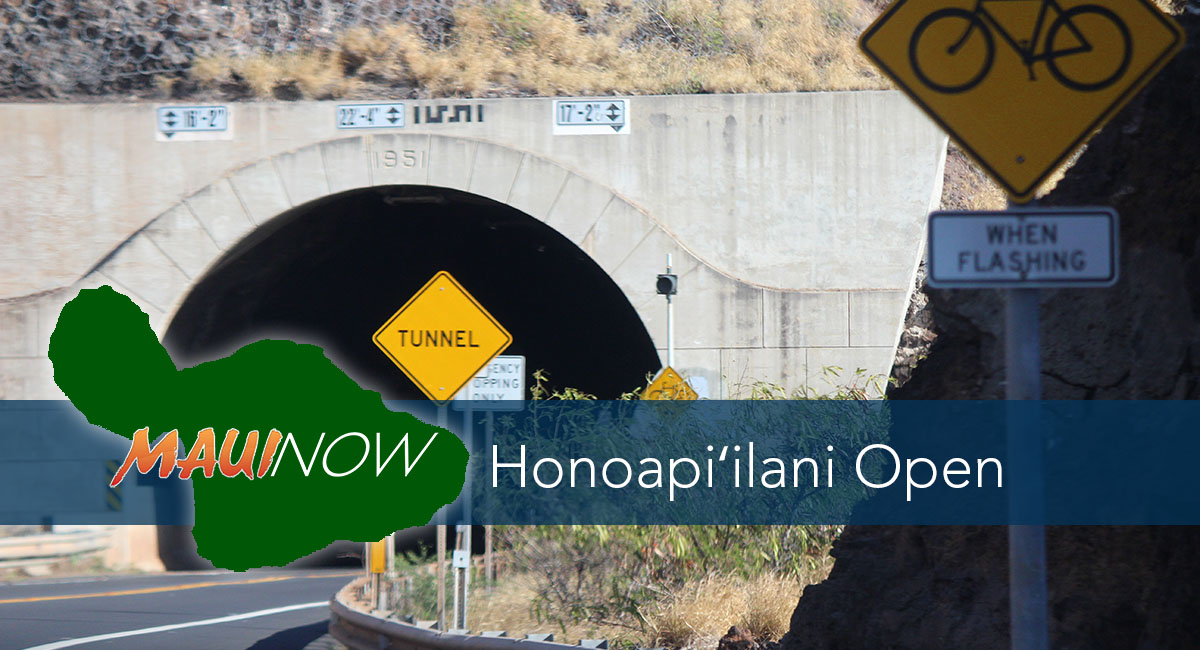 Honoapi'ilani Re-Opened After Temporary Closure Between Mile 11 and Ukumehame