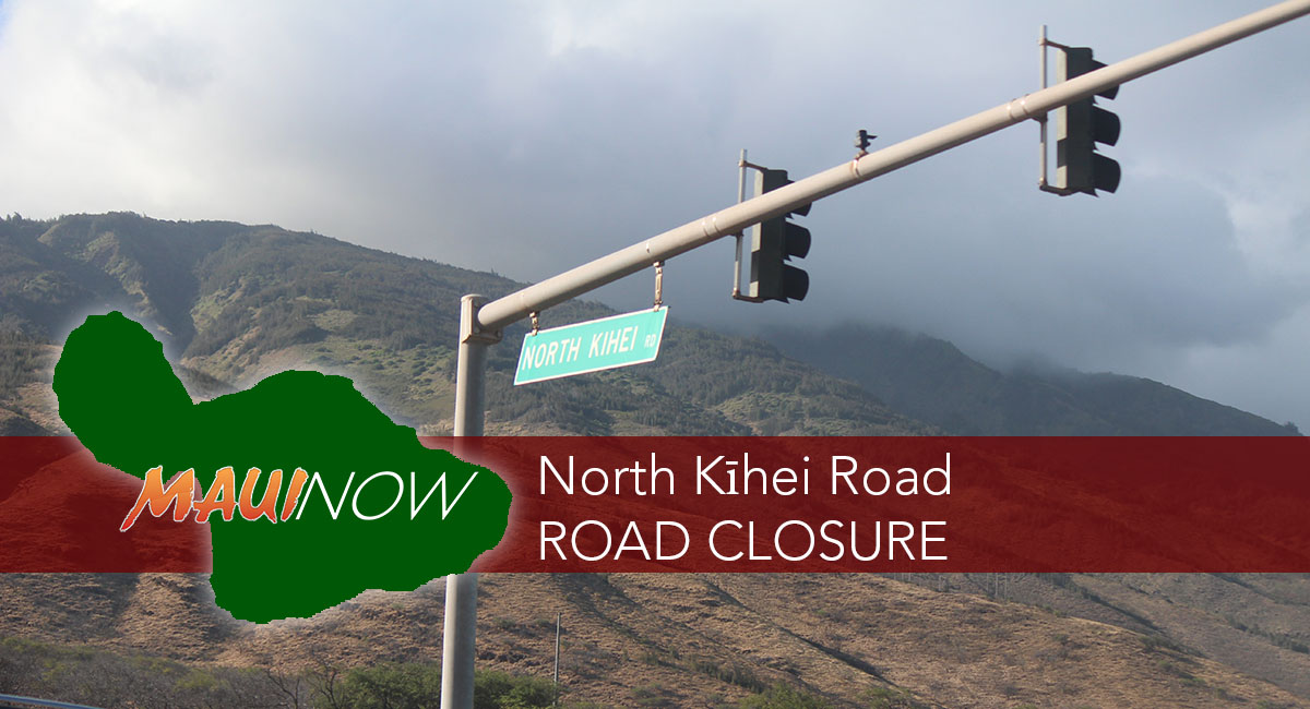 Road Closure North Kīhei Road Due to Vehicle Accident