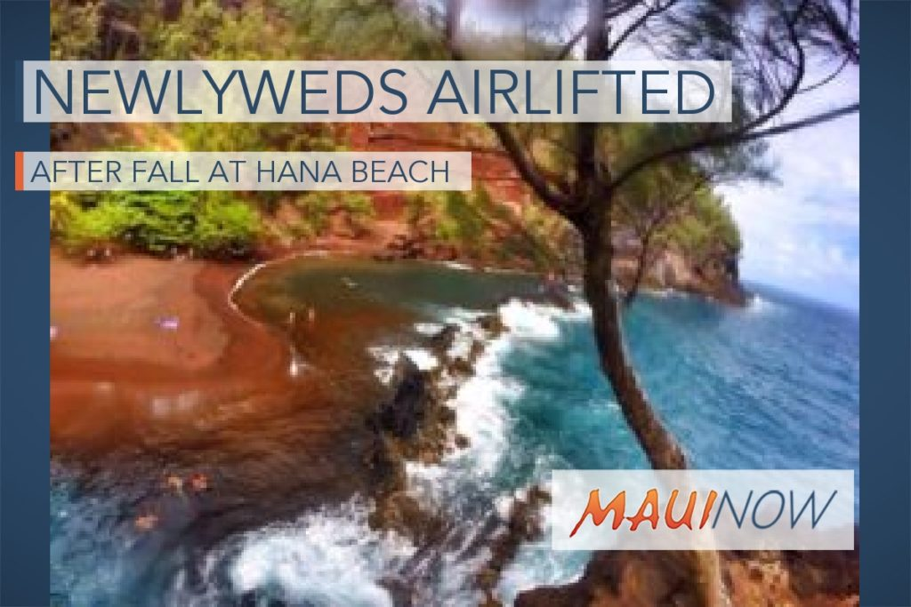 Maui Now : New Jersey Newlyweds Airlifted After Fall at Hāna