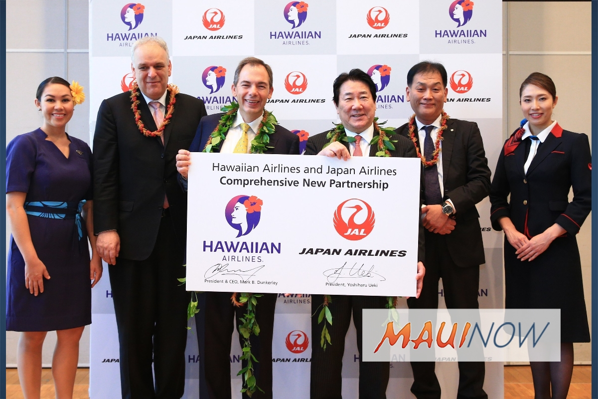Hawaiian Airlines, JAL Seek Antitrust Immunized Joint Venture