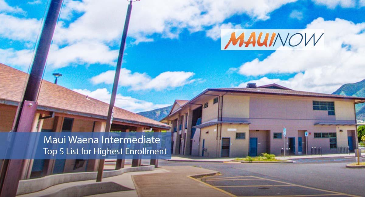 Maui High, Maui Waena Among Top 5 for Enrollment