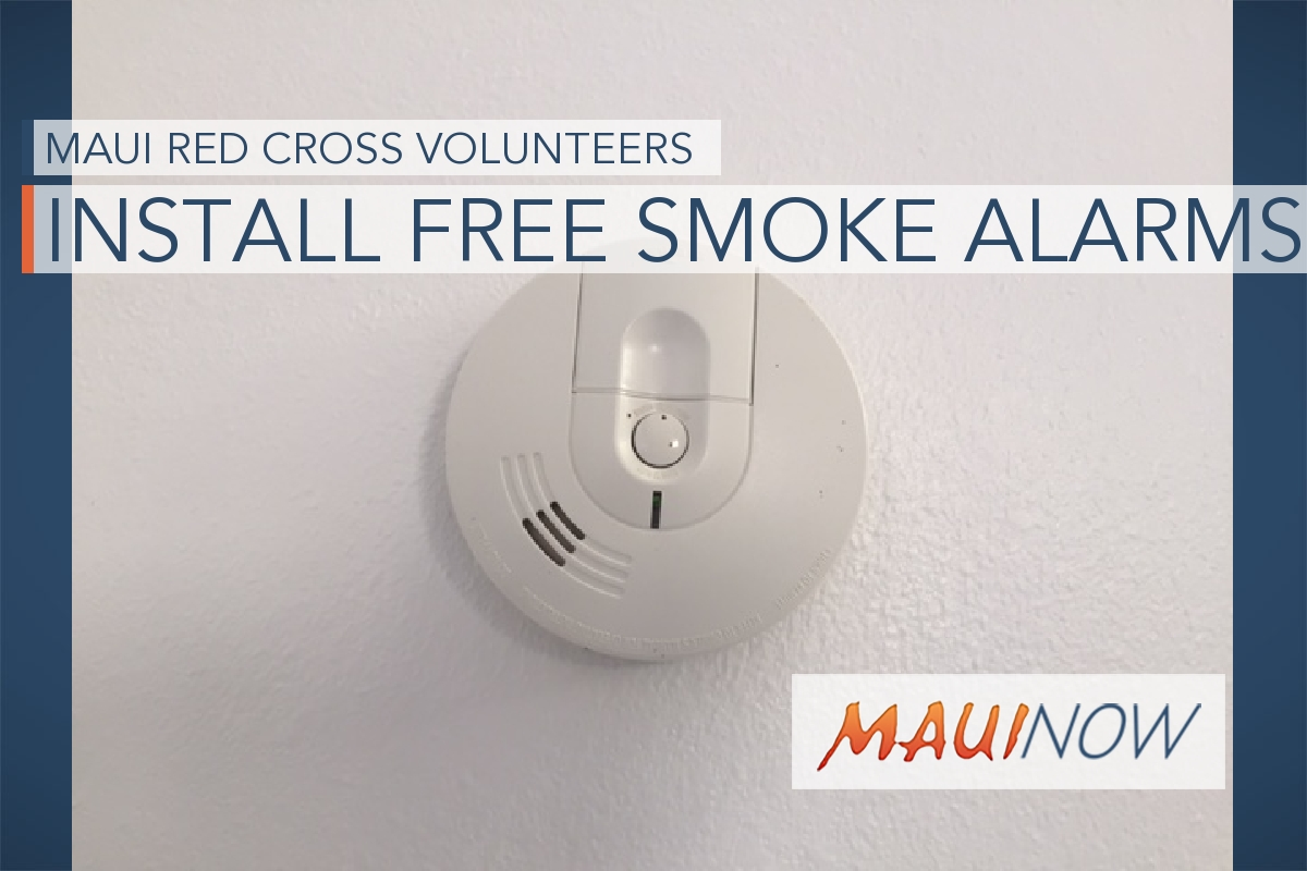 Red Cross to Install Free Smoke Alarms on Maui