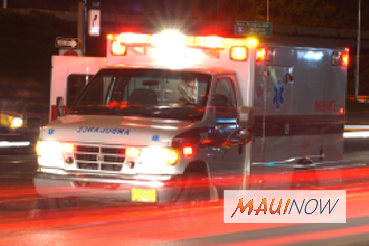 Vehicle Plunges 30 Feet Down Embankment in Hāliʻimaile, Maui