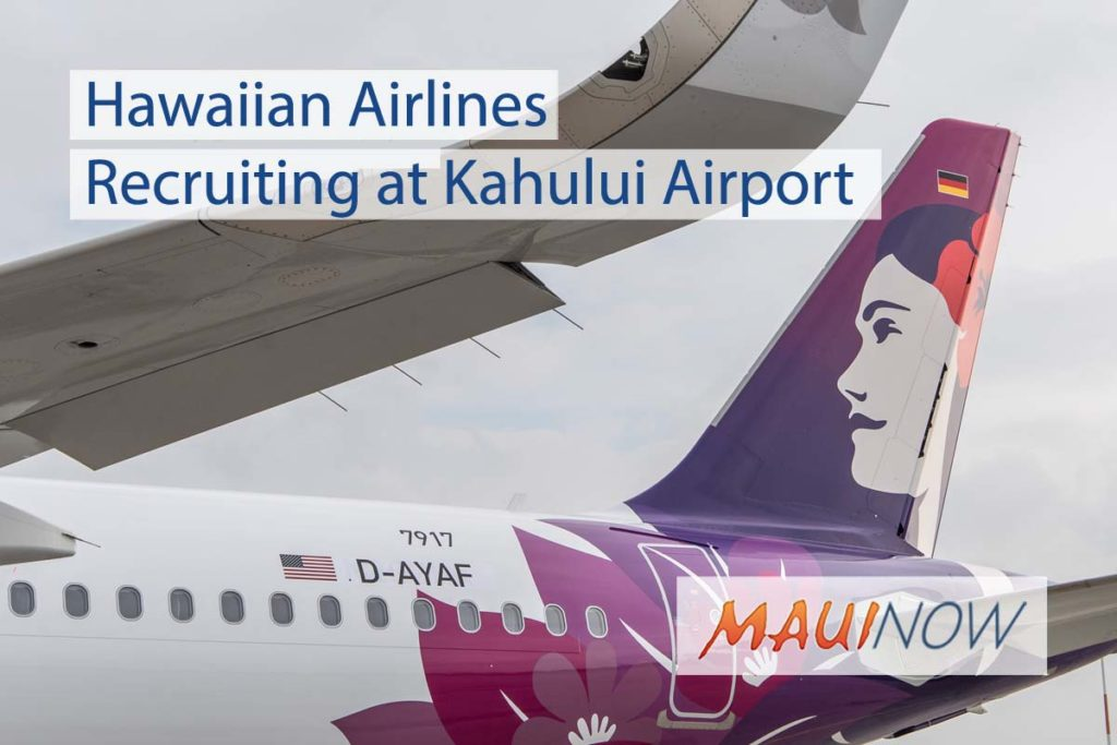 Hawaiian Airlines Recruiting at Kahului Airport