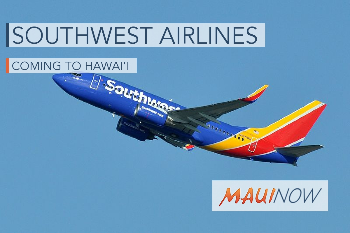 Southwest Plans to Serve Four Hawai'i Airports