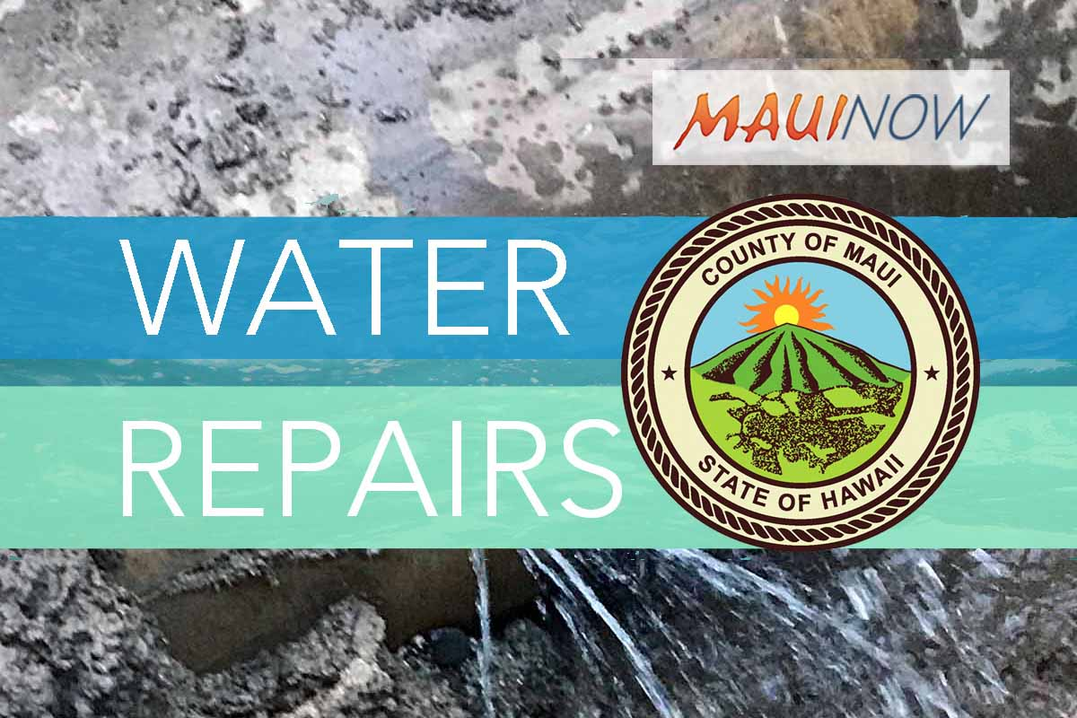 Repairs Continue at Site of West Maui Waterline Break