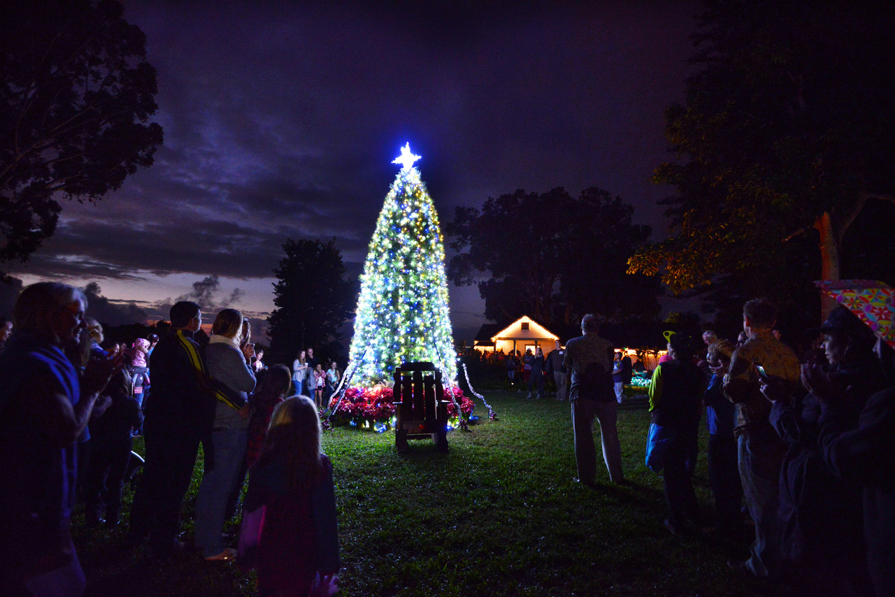The 4th annual ?Ulupalakua tree lighting event will take place on Saturday Dec. 9 2017. Photo Courtesy & Holiday Tree Lighting at ?Ulupalakua | Maui Now
