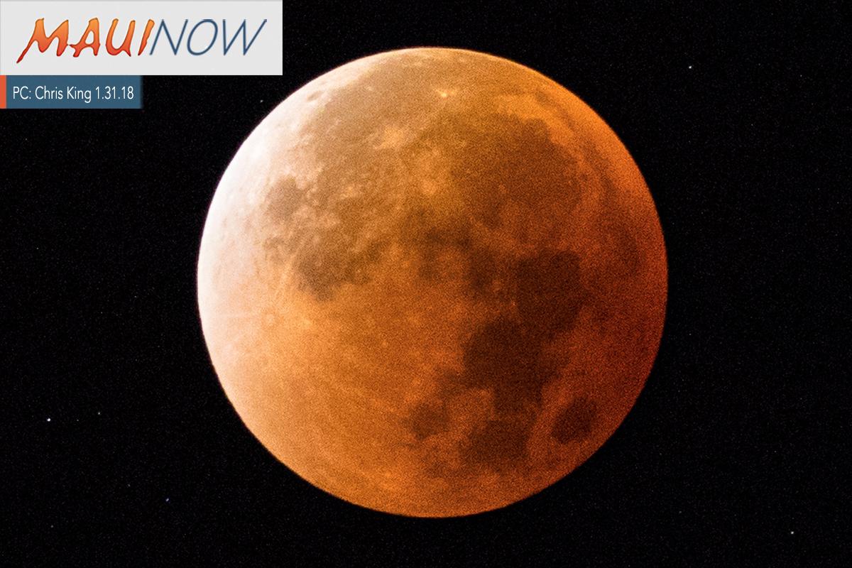 """Super Blue Blood Moon"" Over Maui"
