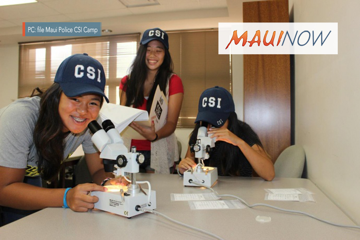 Maui Police to Host CSI Camp 2018