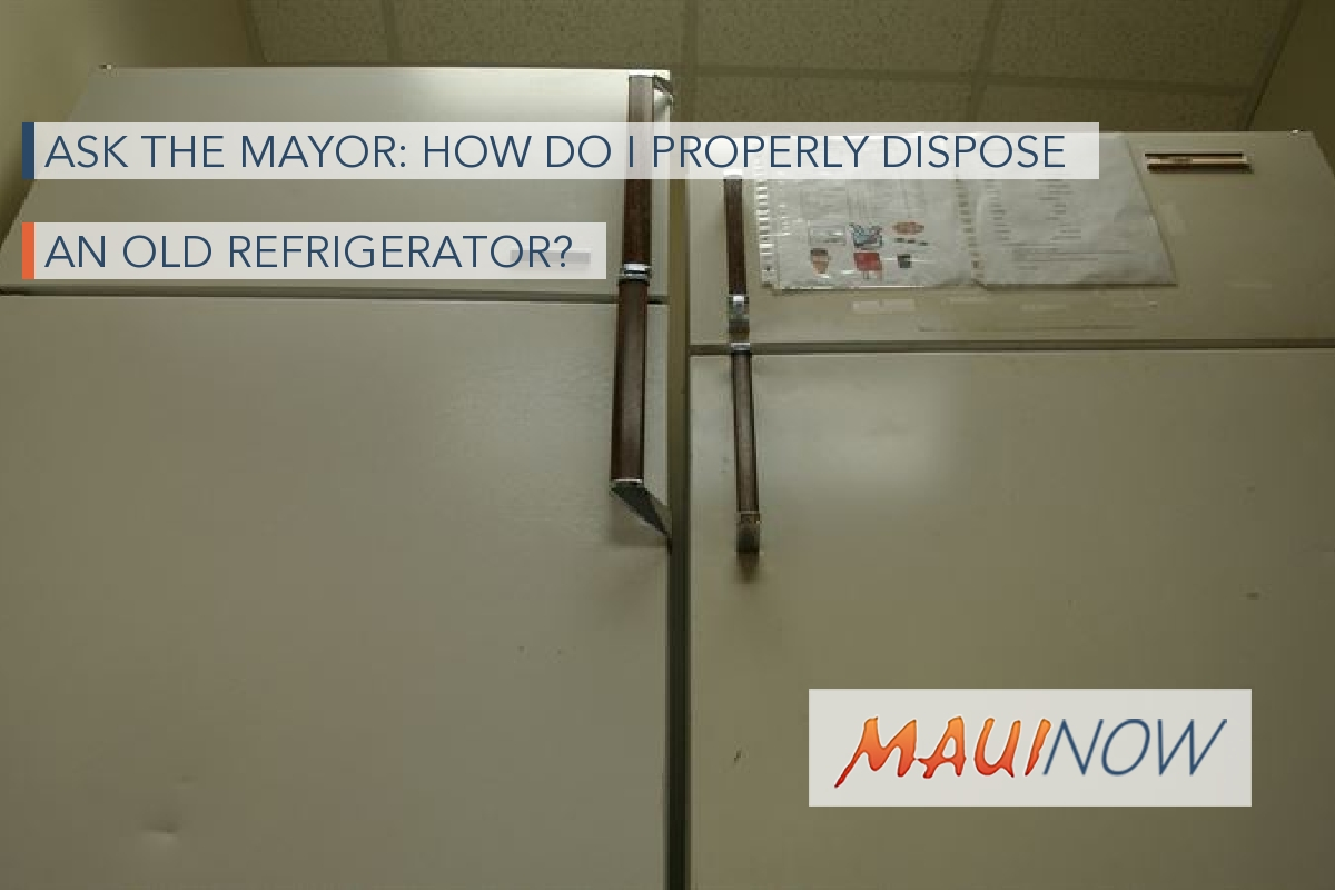 Ask the Mayor: How Do I Properly Dispose an Old Refrigerator?