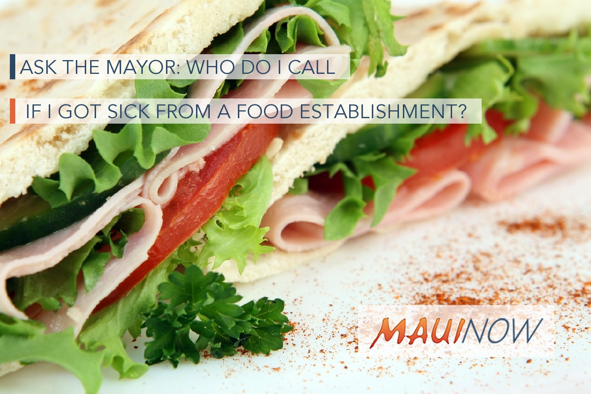 Ask the Mayor: Who Do I Call if I got Sick from a Food Establishment?