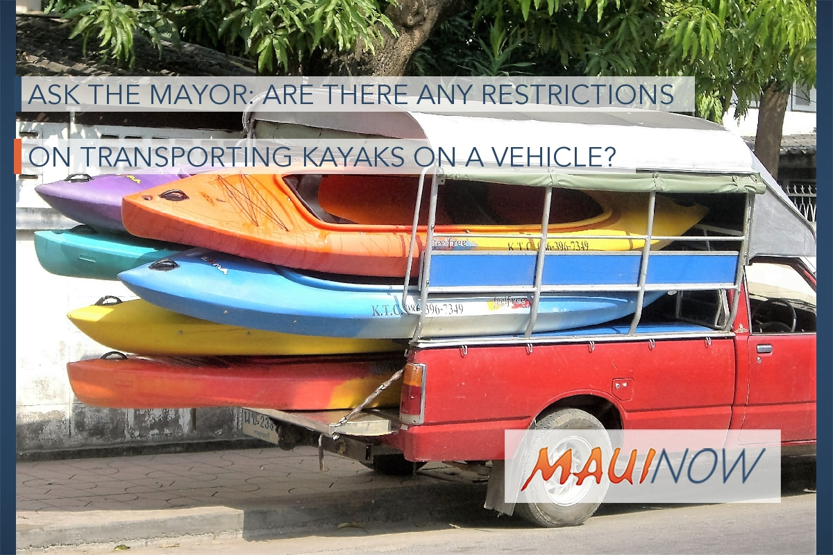 Ask the Mayor: Are There Any Restrictions on Transporting Kayaks on a Vehicle?