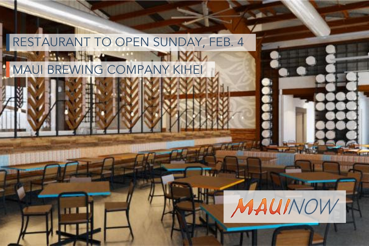 Restaurant to Open at Maui Brewing Company Kīhei