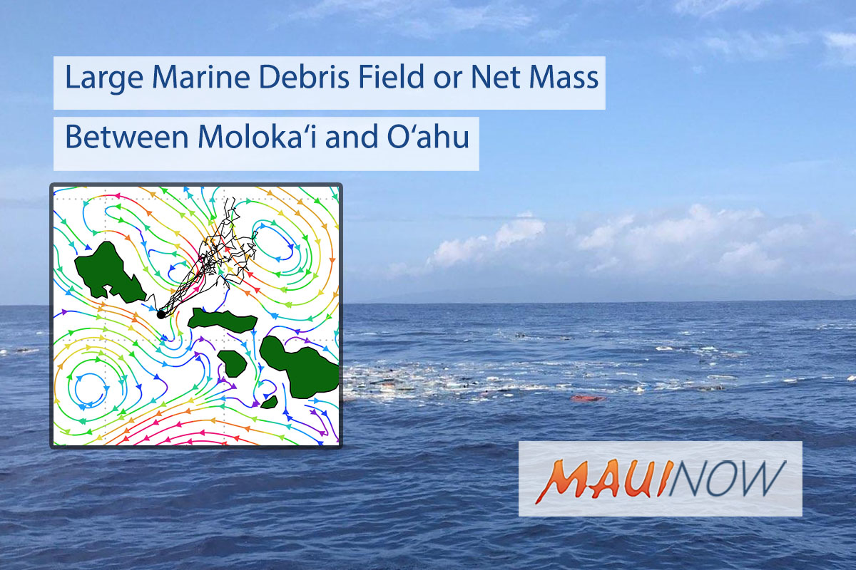 Large Marine Debris Field or Net Mass Between Moloka'i and O'ahu