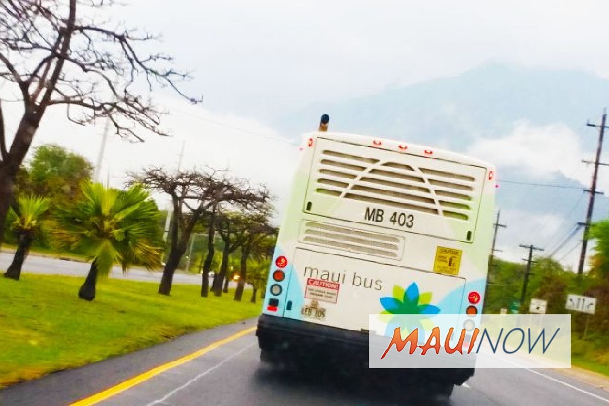 Adjustments Made to Some Central and West Maui Bus Routes
