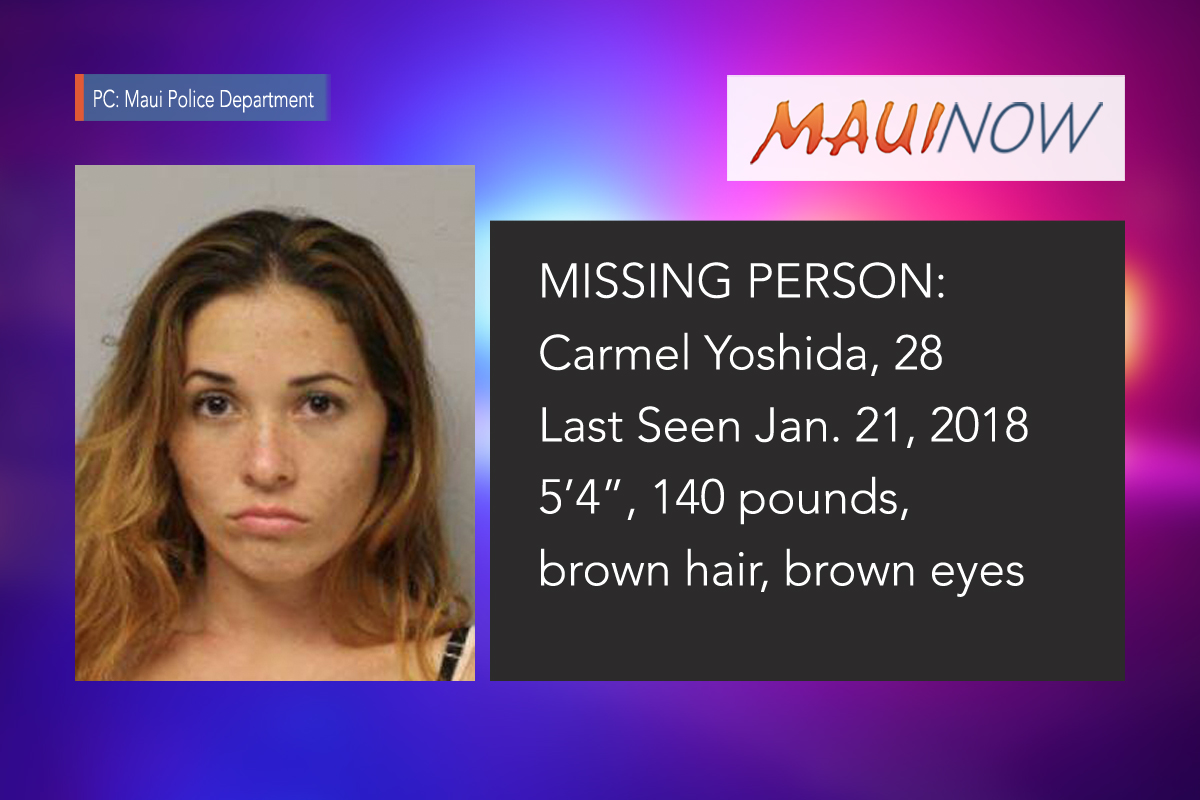 Missing Person: Maui Woman Made Kahului Payphone Call on Sunday