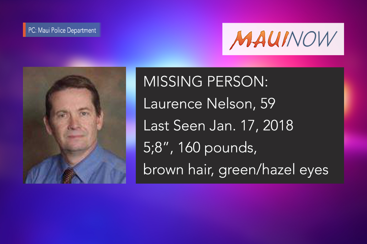 Missing Person: Maui Police Seek Public's Help in Locating Wailea Man