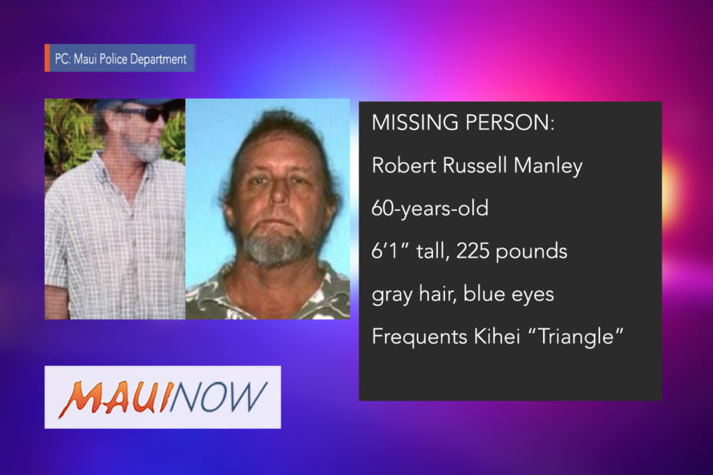 Robert Russell MANLEY  Missing Person Picture