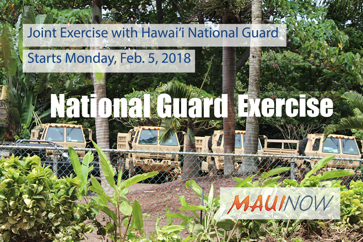 Joint Exercise with Hawai'i National Guard, Starts Feb. 5