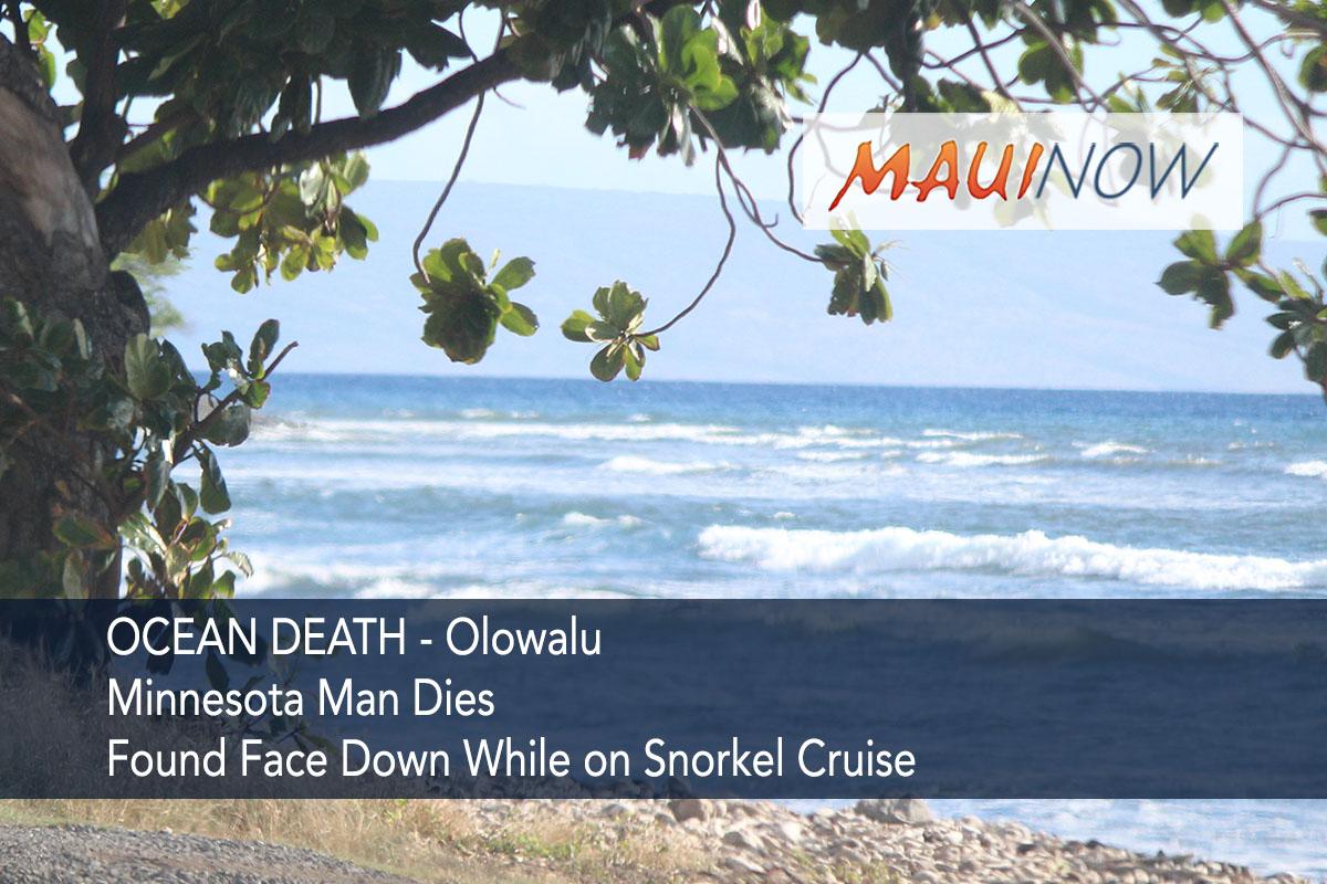 Minnesota Man Dies on Snorkel Cruise in Olowalu