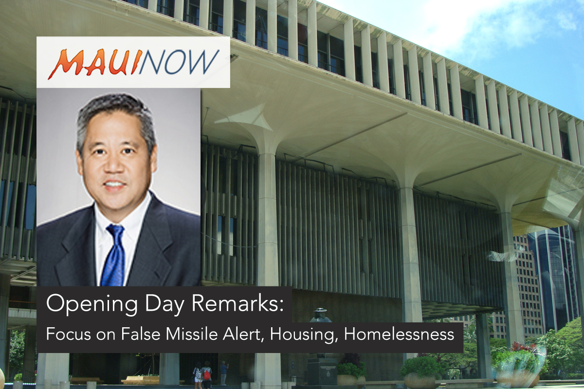 False Missile Alert and Homelessness Highlighted in Opening Day Remarks