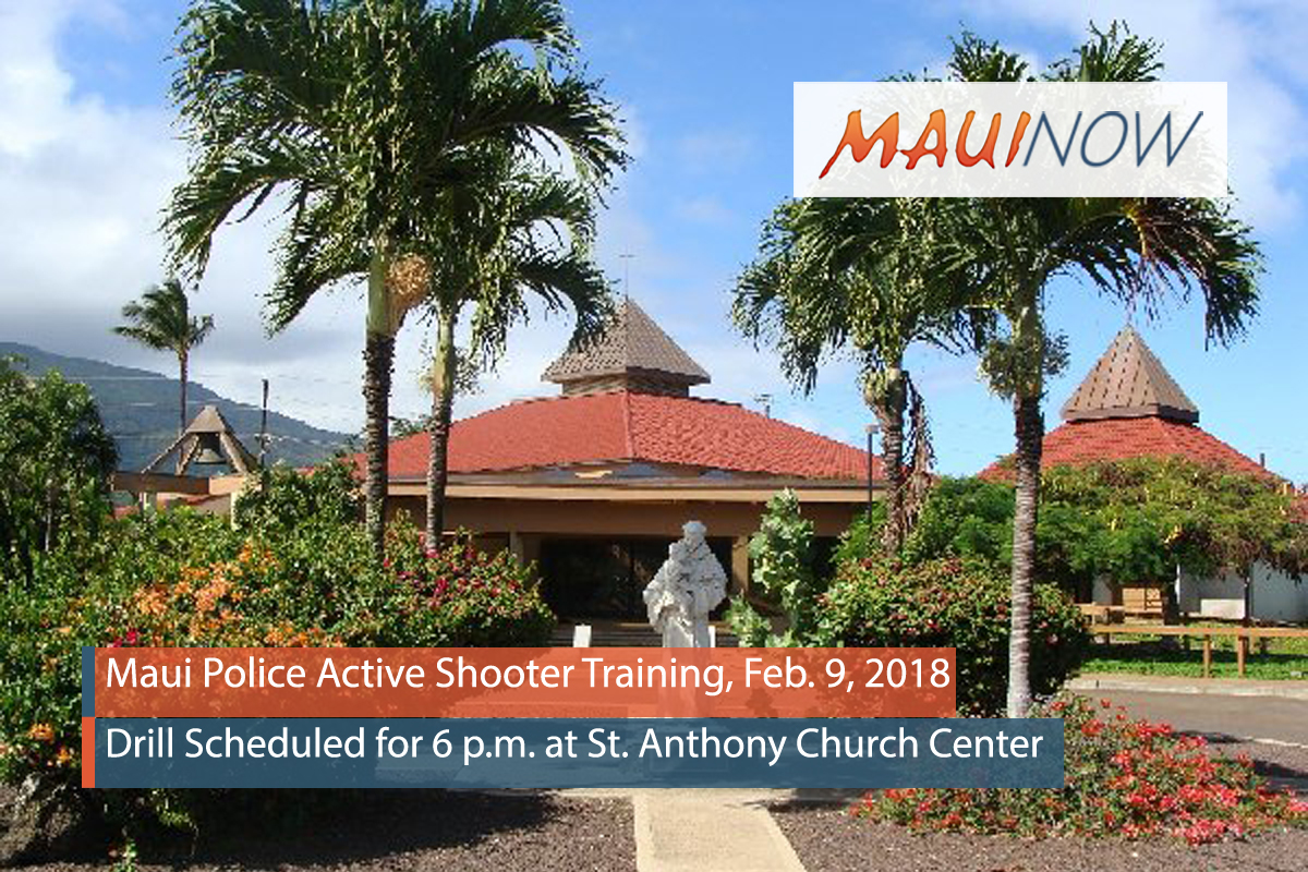 "Maui Police ""Active Shooter"" Training, Feb. 9 at St Anthony"
