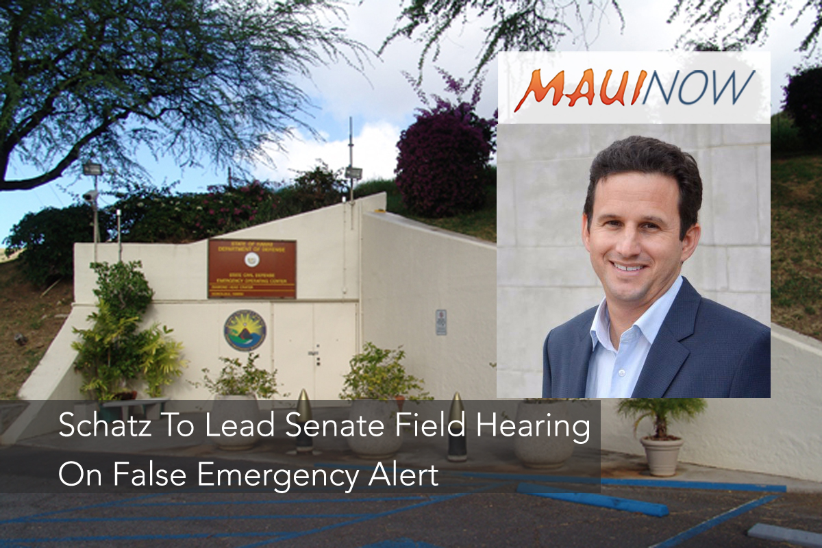 "Sen. Schatz: ""Missile Alerts Should be Handled by Federal Government"""