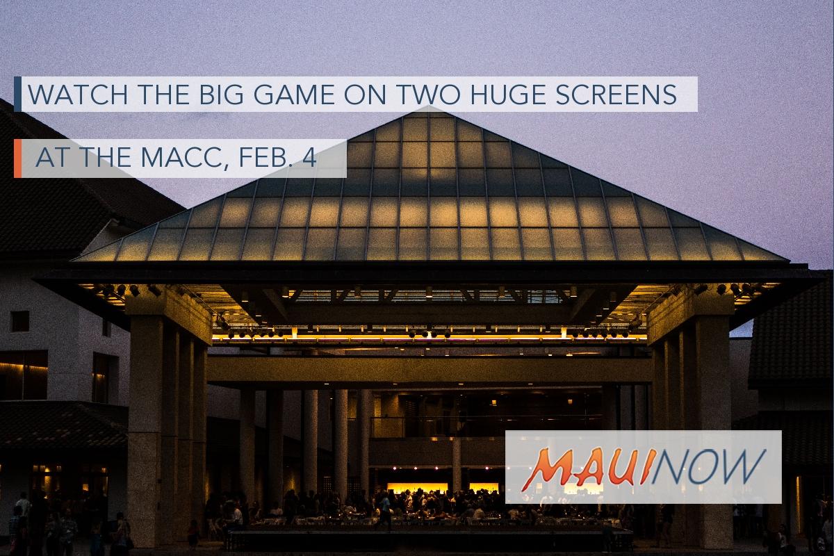 Watch The Big Game on Two Huge Screens at MACC, Feb. 4