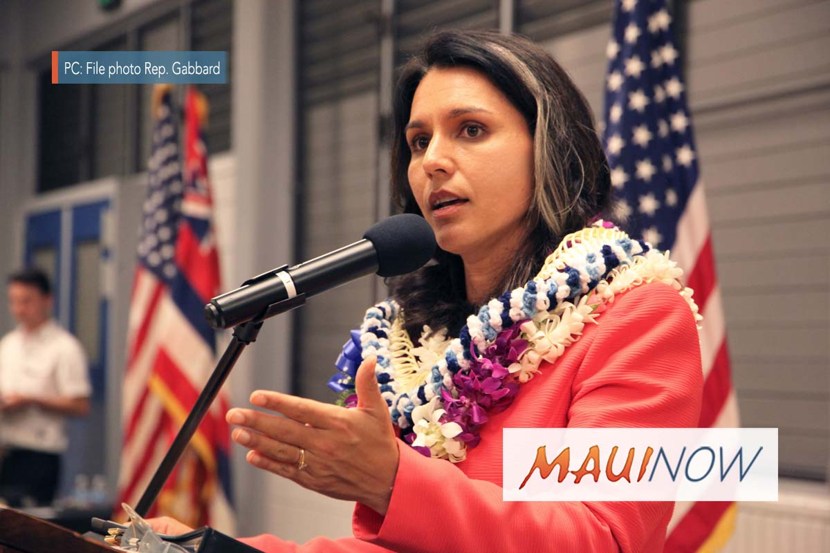 Gabbard Urges Equal Banking Access for State-Licensed Marijuana Businesses