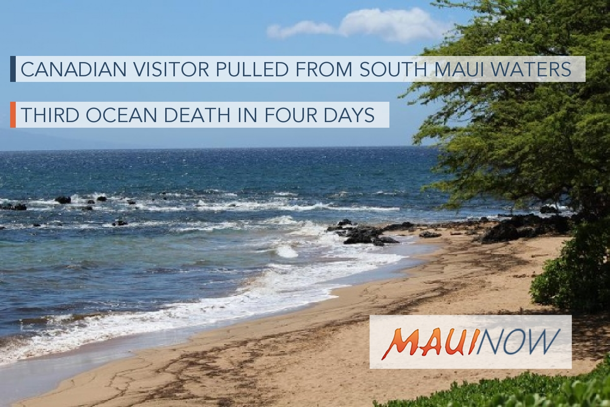 Canadian Visitor Pulled from South Maui Waters