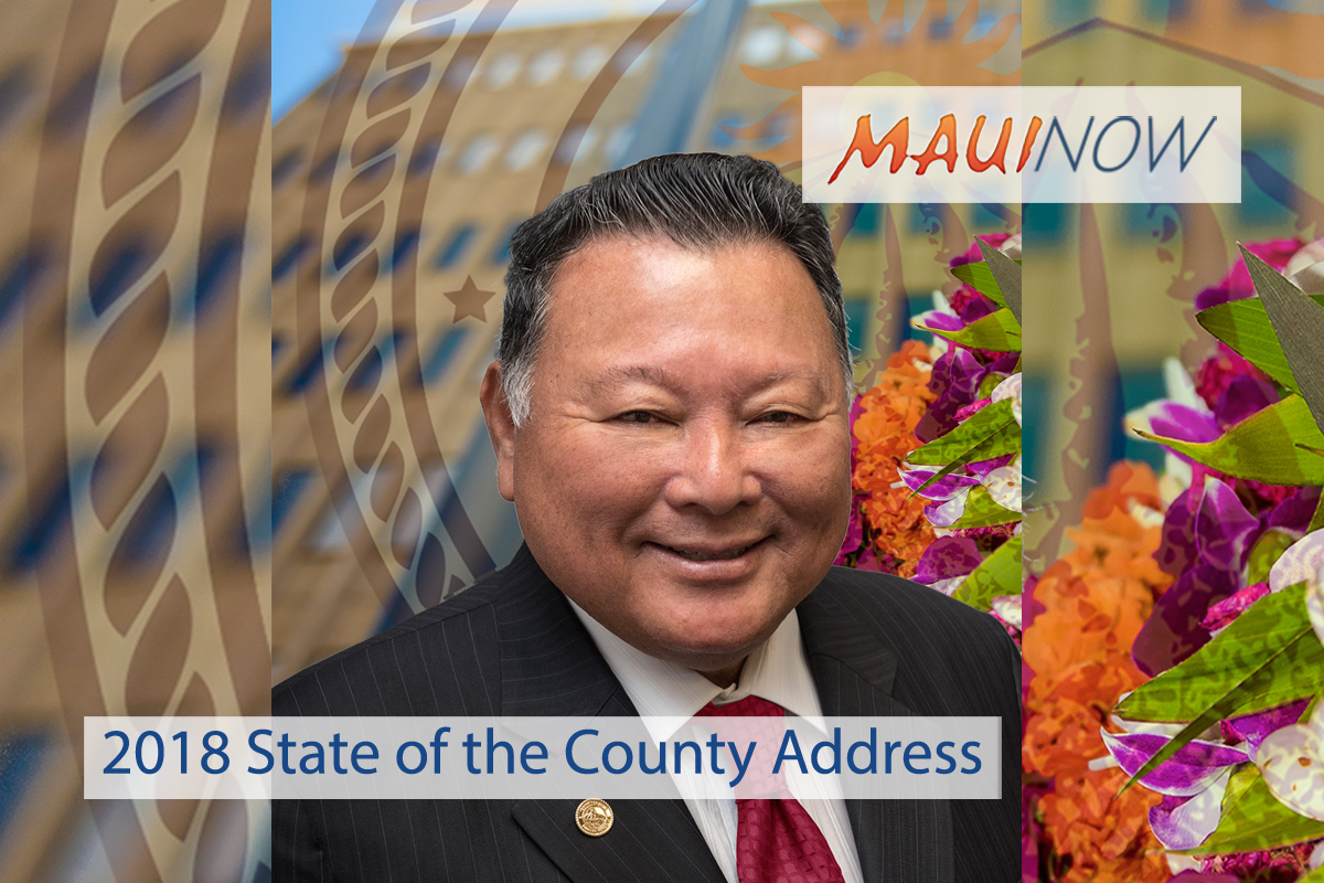 Maui Mayor to Deliver 2018 State of the County Address