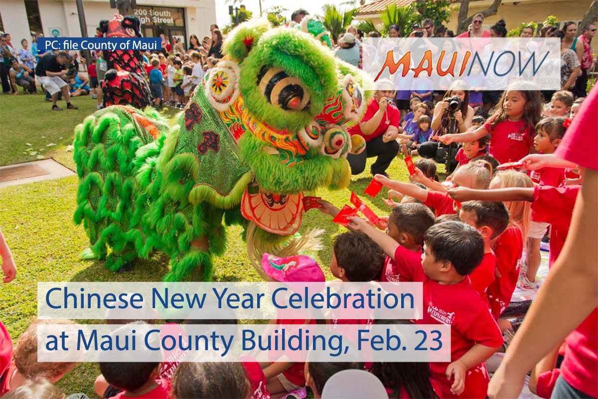 Chinese New Year Celebration at Maui County Building, Feb. 23