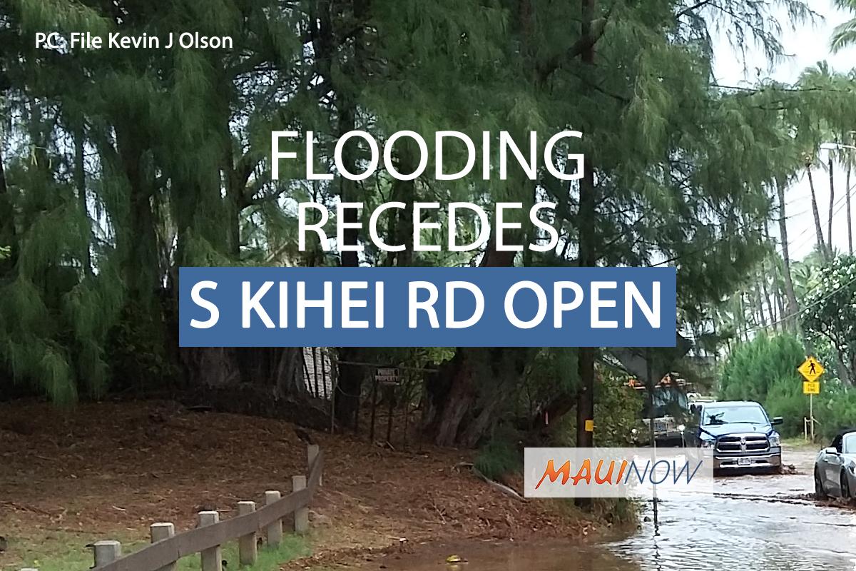 UPDATE/OPEN: Flooding Receded on South Kīhei Road