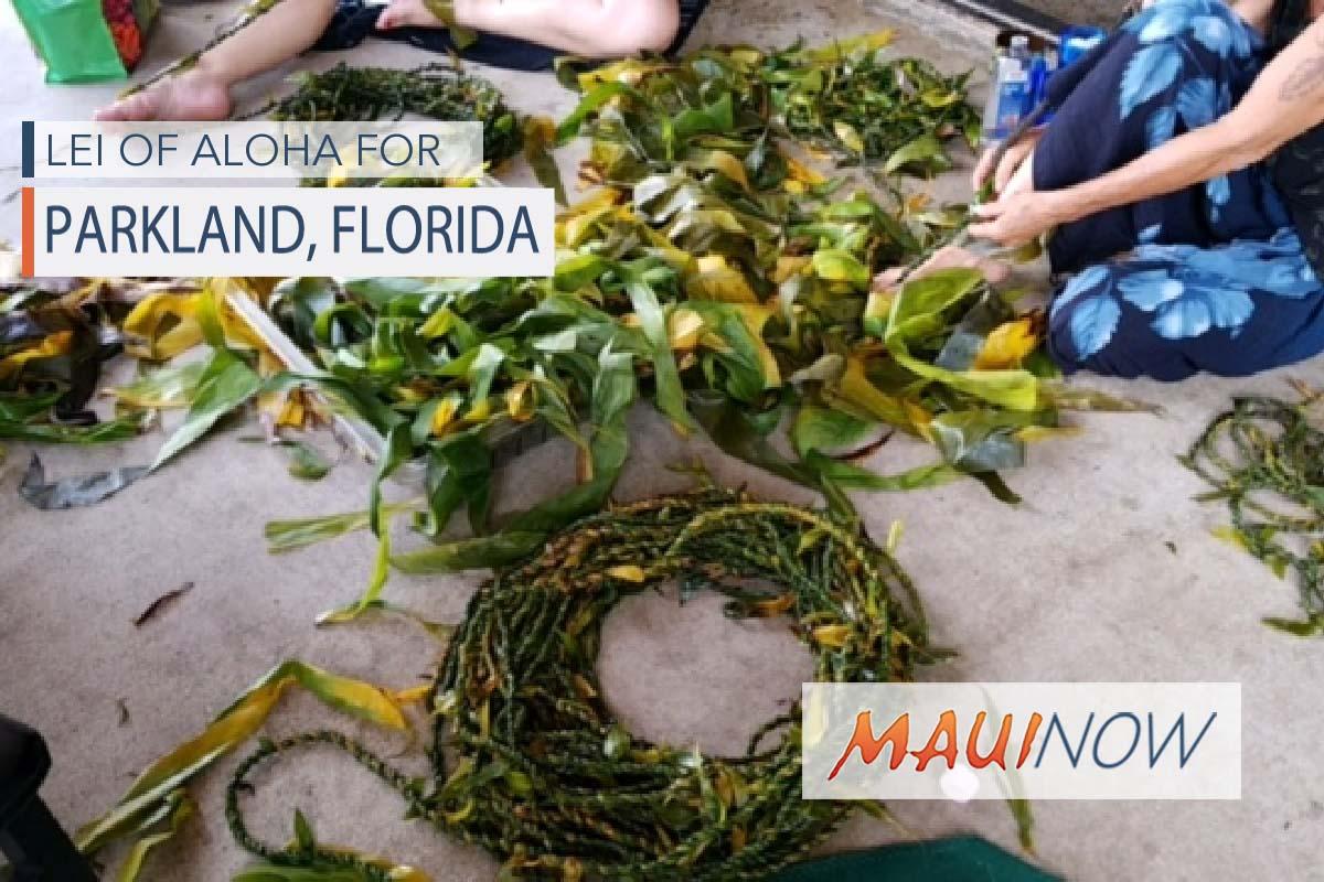 Maui Group Organizes Lei of Aloha for Florida Families