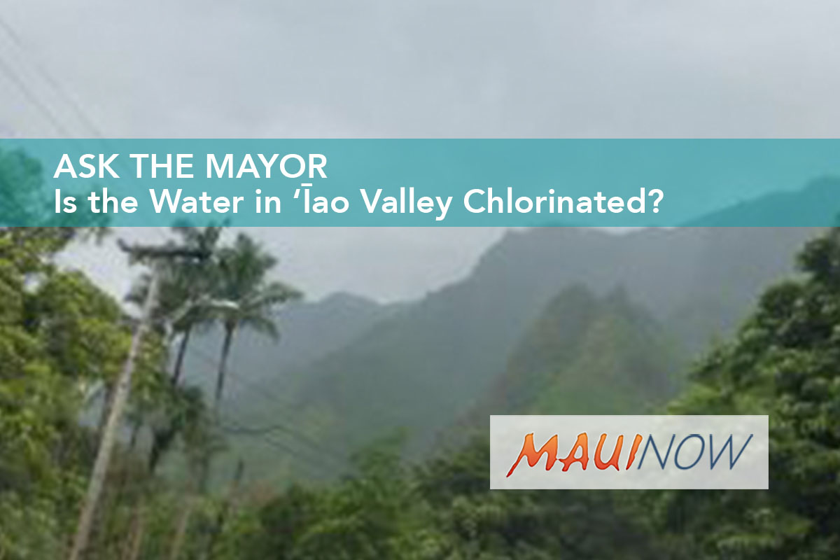 Ask the Mayor: Is the Water in 'Īao Valley Chlorinated?