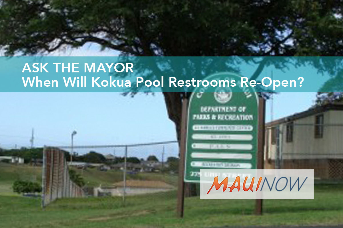 Ask the Mayor: When Will Kokua Pool Restrooms Re-Open?