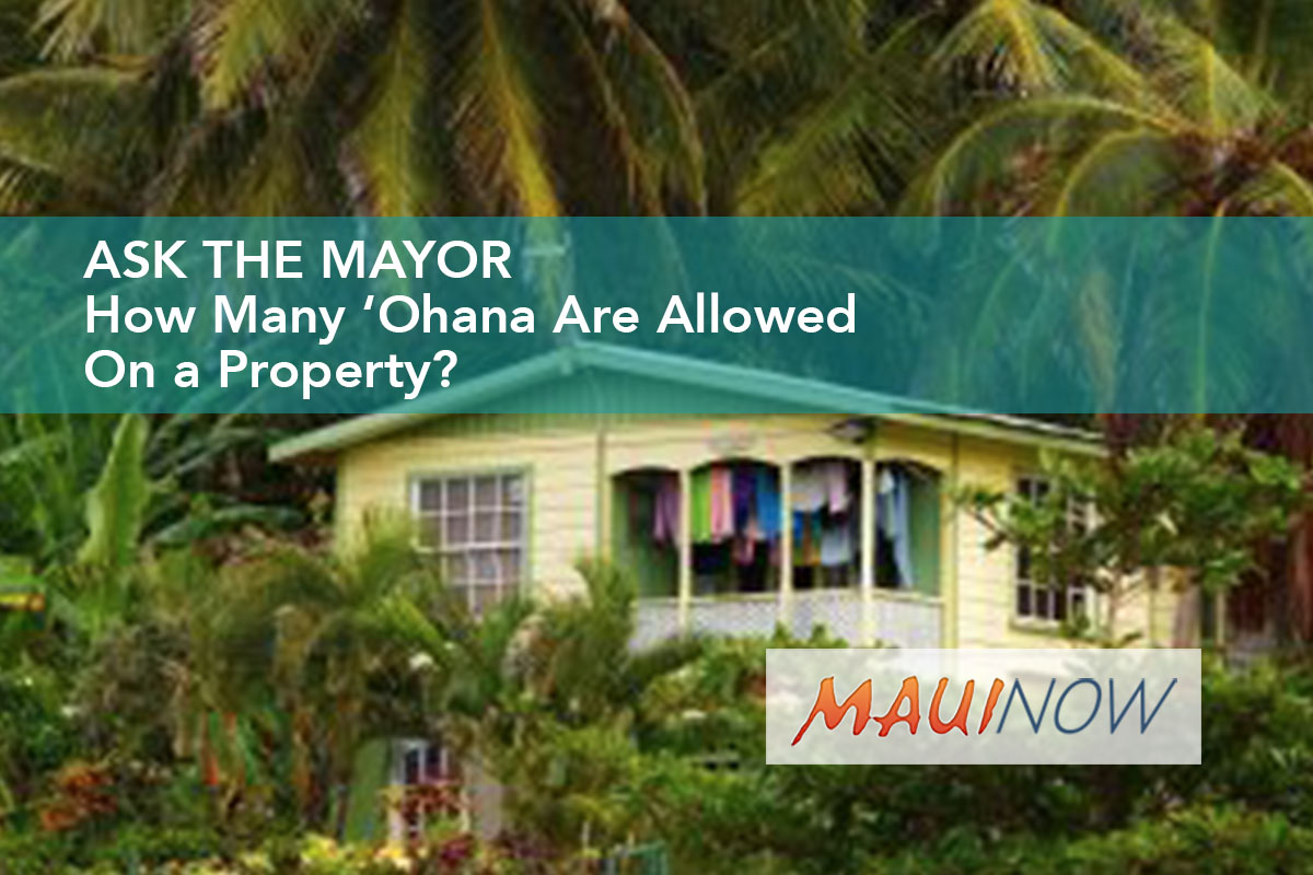 Ask the Mayor Redux: How Many 'Ohana Are Allowed On a Property?