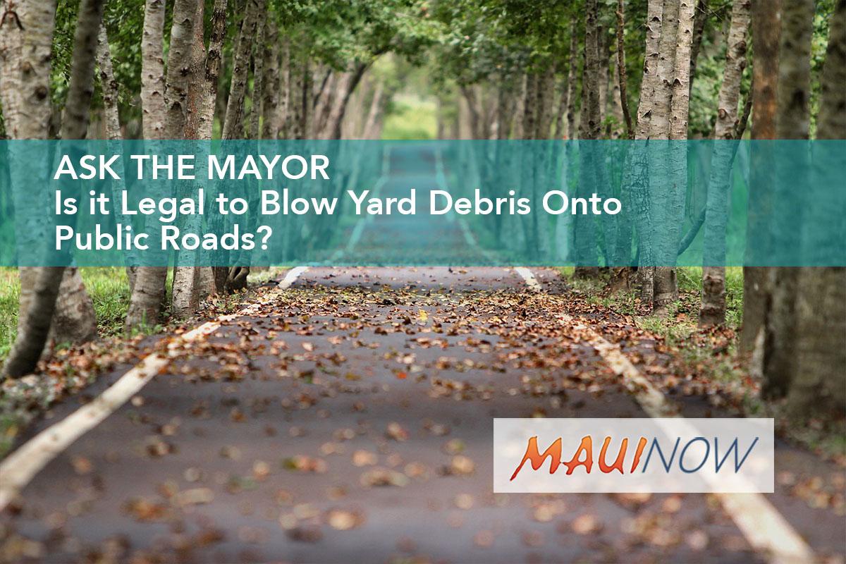 Ask the Mayor: Is It Legal to Blow Yard Debris Onto Public Roads?