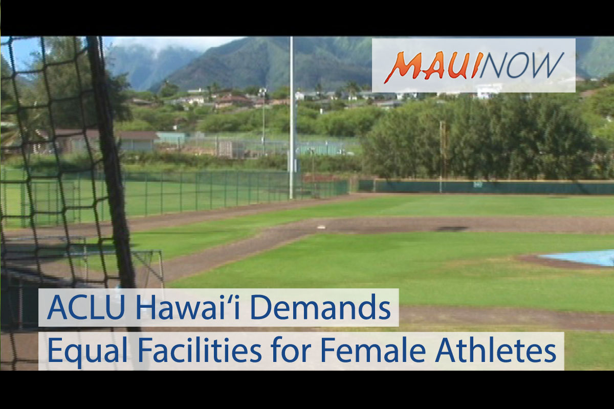 ACLU Hawai'i Demands Equal Facilities for Female Athletes